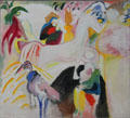 Horses painting by Wassily Kandinsky at Lenbachhaus. Munich, Germany.