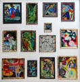 Reverse glass paintings by Wassily Kandinsky at Lenbachhaus. Munich, Germany.