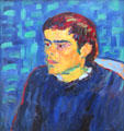 Hunchback painting by Alexej von Jawlensky at Lenbachhaus. Munich, Germany.