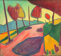 Murnau Landscape painting by Alexej von Jawlensky at Lenbachhaus. Munich, Germany.