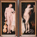 Allegory of the female painting by Hans Baldung Grien at Alte Pinakothek. Munich, Germany.
