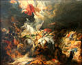 Sennacherib's defeat painting by Peter Paul Rubens at Alte Pinakothek. Munich, Germany.
