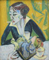 Erna with Cigarette painting by Ernst Ludwig Kirchner at Pinakothek der Moderne. Munich, Germany