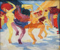 Dance around Golden Calf painting by Emil Nolde at Pinakothek der Moderne. Munich, Germany.