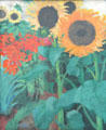 High Sunflowers painting by Emil Nolde at Pinakothek der Moderne. Munich, Germany.