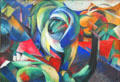 The Mandrill painting by Franz Marc at Pinakothek der Moderne. Munich, Germany.