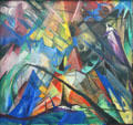Tirol painting by Franz Marc at Pinakothek der Moderne. Munich, Germany.