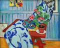 Still life with Geranium painting by Henri Matisse at Pinakothek der Moderne. Munich, Germany.