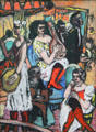Female Orchestra painting by Max Beckmann at Pinakothek der Moderne. Munich, Germany.