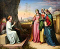 Three Marys at the Tomb painting by Peter von Cornelius at Neue Pinakothek. Munich, Germany.