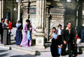 People at Alabaster Mosque in Cairo. Egypt