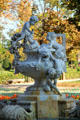 Whimsical fountains with cherubs in Ciutadella Park. Barcelona, Spain.