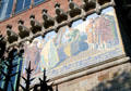 Mosaic mural at Hospital de Sant Pau. Barcelona, Spain.