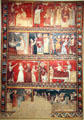 Scenes from life of St. Nicholas fresco by Second Master of Bierge at Museu Nacional d'Art de Catalunya. Barcelona, Spain.