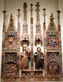 Altarpiece of Mary with St. Anthony Abbot from Catalunya at Museu Nacional d'Art de Catalunya. Barcelona, Spain.