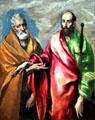 St. Peter & St. Paul painting by El Greco at Museu Nacional d'Art de Catalunya. Barcelona, Spain