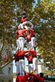 Human pyramid, a tradition of Catalonia. Barcelona, Spain