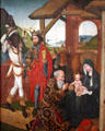 Adoration of the Magi by Martin Schongauer workshop in Unterlinden Museum. Colmar, France.