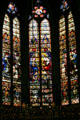 Stained-glass windows from ambulatory of Cathedral. Metz, France.
