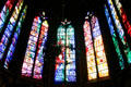 Modern stained-glass windows by Jacques Simon Workshop of Reims in Cathedral. Metz, France