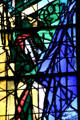 Detail of Jacques Simon stained-glass windows in Cathedral. Metz, France.