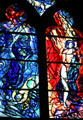 Marc Chagall stained-glass panels in Cathedral. Metz, France.