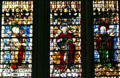 Stained-glass Apostles in Cathedral. Metz, France.