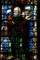Stained-glass Apostle in Cathedral. Metz, France.