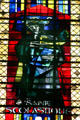 Modern stained-glass of Ste. Scholastique in Cathedral. Metz, France.