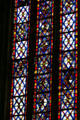Stained glass window of St. Stephen's Cathedral. Sens, France.