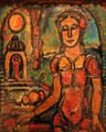 La petite magicienne paining by Georges Rouault in Museum of Modern Art. Strasbourg, France.