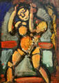 Wrestler painting by Georges Rouault at Georges Pompidou Center. Paris, France.