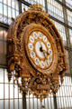 Rail station clock by Victor Laloux at Musée d'Orsay. Paris, France.