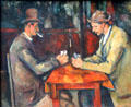 The Card Players painting by Paul Cézanne at Musée d'Orsay. Paris, France.