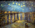 Starry Night painting by Vincent van Gogh at Musée d'Orsay. Paris, France.