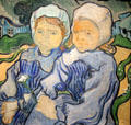 Two Girls painting by Vincent van Gogh at Musée d'Orsay. Paris, France.