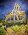 Church of Auvers-sur-Oise painting by Vincent van Gogh at Musée d'Orsay. Paris, France.