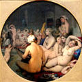 Turkish Bath painting by Jean-Auguste-Dominique Ingres at Louvre Museum. Paris, France.