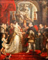 5. Wedding by Proxy of Marie de' Medici to King Henry IV from Marie de' Medici Cycle by Peter Paul Rubens at Louvre Museum. Paris, France.