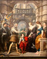 9. Consignment of the Regency from Marie de' Medici Cycle by Peter Paul Rubens at Louvre Museum. Paris, France.