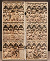 Ivory diptych with scenes from Passion, Ascension & Pentecost at Louvre Museum. Paris, France.