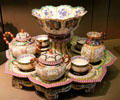 Chinese reticulated porcelain breakfast service by Sevres Manuf. at Louvre Museum. Paris, France.