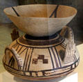 Water vessel left in tomb of deceased at Antibes Archeology Museum. Antibes, France.