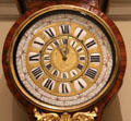 Face of tall clock with calendar & zodiac dials at Villa Ephrussi de Rothschild. Saint Jean Cap Ferrat, France.