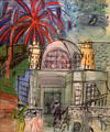 Fireworks in Nice, Casino on the Jetty Promenade painting by Raoul Dufy at Nice Fine Arts Museum. Nice, France.