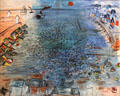 The Beach at Sainte Adresse painting by Raoul Dufy at Nice Fine Arts Museum. Nice, France.