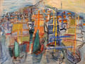 Port of Marseilles painting by Raoul Dufy at Nice Fine Arts Museum. Nice, France.