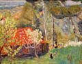 Farmhouse with red roof painting by Pierre Bonnard at Museum of the Annonciade. St Tropez, France.