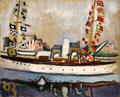 English Yacht painting by Raoul Dufy at Beaux-Arts Museum. Lyon, France.
