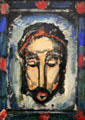 Holy face painting by Georges Rouault at Beaux-Arts Museum. Lyon, France.